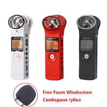 En Stock! Ligero Zoom H1 Práctico Digital Estéreo Grabadora Pluma de Grabación para Entrevista Micrófono DSLR (Parabrisas + Tarjeta)