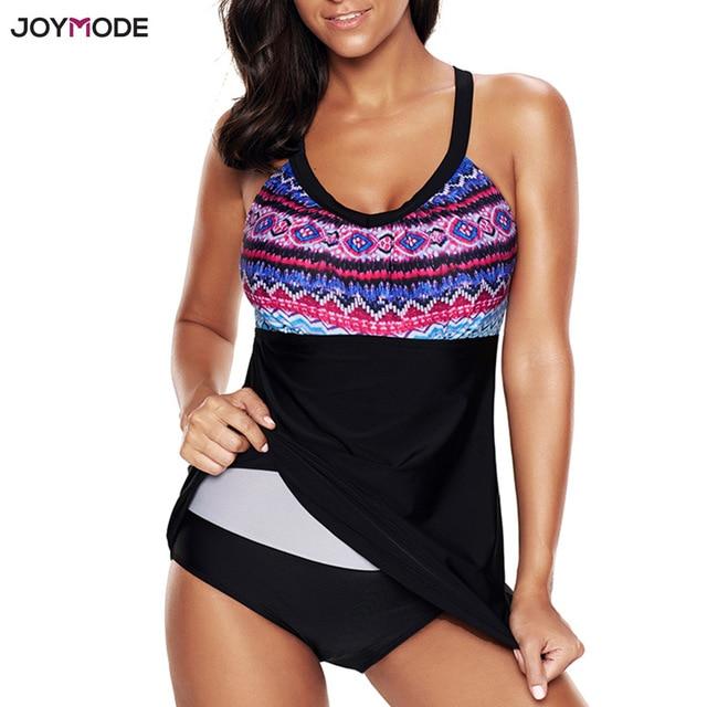 59ed37a894 JOYMODE One Piece Swimsuit 2018 Bikini Swim Dress Women Fat Big Plus Size Cover  Up Bathing Suit Beach Skirt Push Up Beachwear