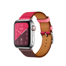 Leather single tour strap for apple watch band 4 44mm 40mm iwatch series 4/3/2/1 38mm 42mm bracelet watchband replacement belt