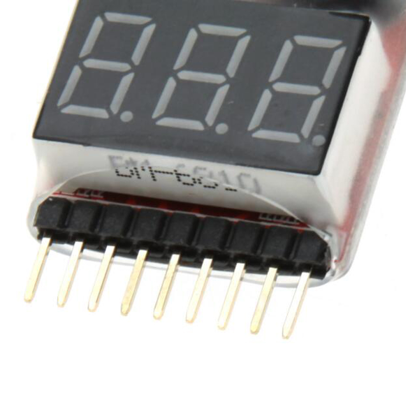 100 stks 1 8 S Laagspanning Zoemer 1 8 S Lipo/Ion/Fe Batterij Voltage 2IN1 Tester Originele Vistapower Voor RC BB Ring - 4