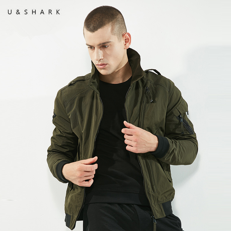 U&SHARK Autumn New Military Jacket Men Brand Clothing Tactical Outerwear High Quality Army Green Jacket Coats Casual Windbreaker