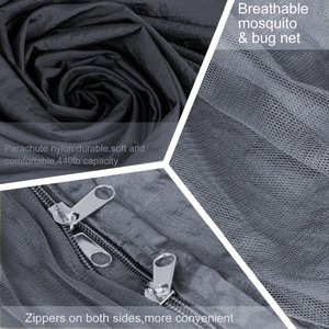 Image 4 - עמיד ערסל אוהל חוזק גבוהה מצנח בד תליית מיטת שינה עם כילה עבור חיצוני קמפינג נסיעות הישרדות