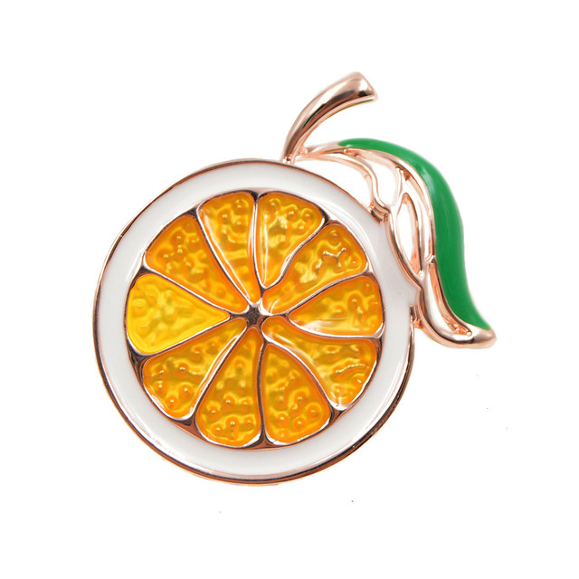 CINDY XIANG 2 Colors Choose Enamel Lemon Brooch Unisex Women Men Brooch Pin Cute Fruit Brooches Fashion Jewelry Dress Coat Gift