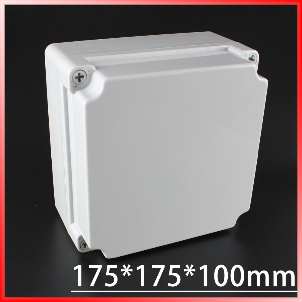 175*175*100MM IP67 Waterproof Plastic Electronic Project Box w/ Fix Hanger Plastic Waterproof Enclosure Box Housing Meter Box plastic enclosure for electronic box waterproof plastic box for electronic project 200 150 100mm