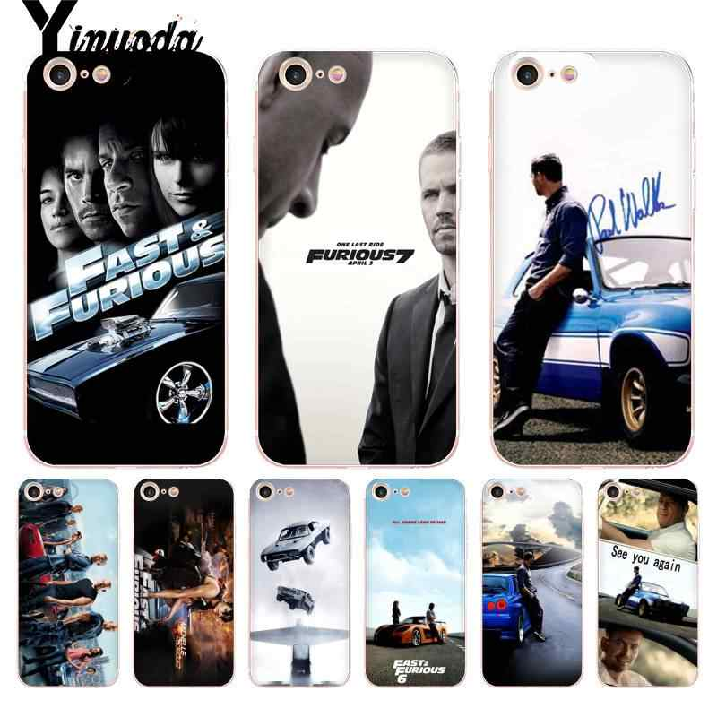 Yinuoda Voor iPhone 7 6 X Case Fast and Furious Moive 7 Transparante Telefoon Cover Case voor iPhone 8 7 6 6S Plus X 5 5S SE 5C XS XR