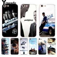 Yinuoda Voor iPhone 7 6 X Case Fast and Furious Moive 7 Transparante Telefoon Cover Case voor iPhone 8 7 6 6S Plus X 5 5S SE 5C XS XR(China)