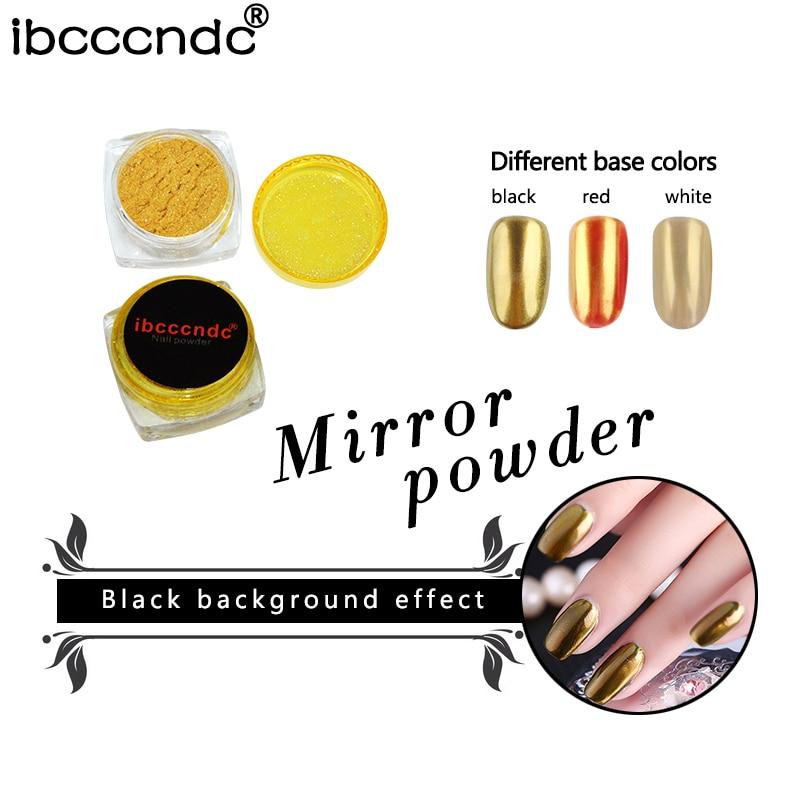 Nové Ibcccndc 1g / Box Gold Nail Glitter Zrcadlo Prášek Jemný Nail Art Prášek Prach DIY Chrome Pigment Glitters Manikúra Dekorace
