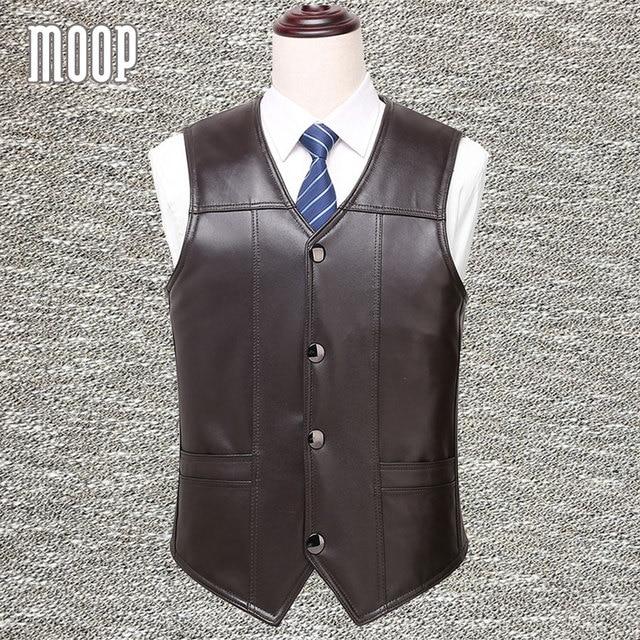 Black brown genuine leather vest 100% lambskin leather jacket men winter warm fleece lined waistcoat chaleco hombre colete LT926