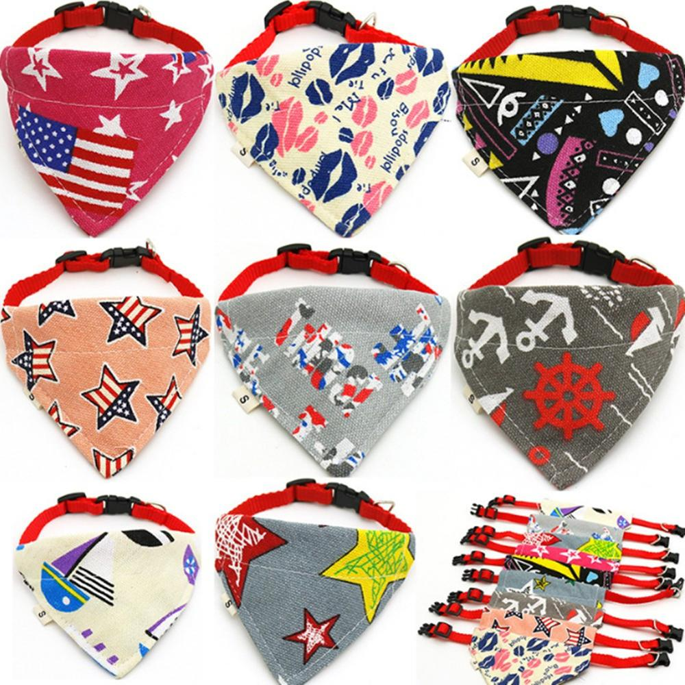 1Pc Cat Dog Bandana Bibs Scarf Collar Adjustable font b Pet b font Neckerchief Scarf Waterproof