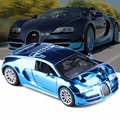 Hot New 1:32 Bugatti Metal Alloy Diecast Toy Car Model Miniature Scale Model Sound and Light Emulation Electric Toy Car For Gift
