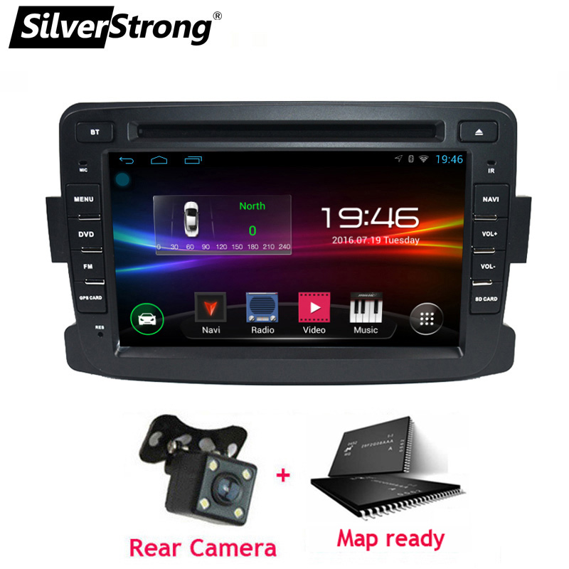 SilverStrong Android9 0 1DIN Car DVD For RENAULT DUSTER LOGAN LADA XRAY SYMBOL DACIA Kaptur DOKKER
