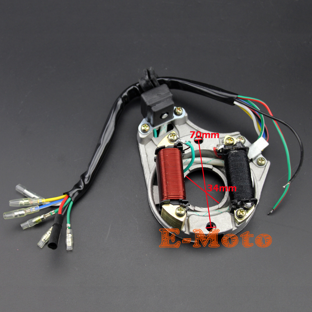 Brand New STATOR IGNITION MAGNETO PLATE 50 110 125 110cc 2 Coil For TaoTao...