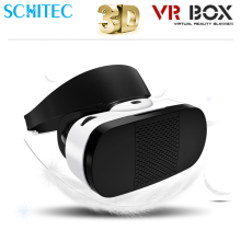 SCHITEC Original Cardboard Head Mount VR BOX 4.0 Virtual 3D Glasses for 3.5″ – 6.0″ Smart Phone+ bluetooth remote controller