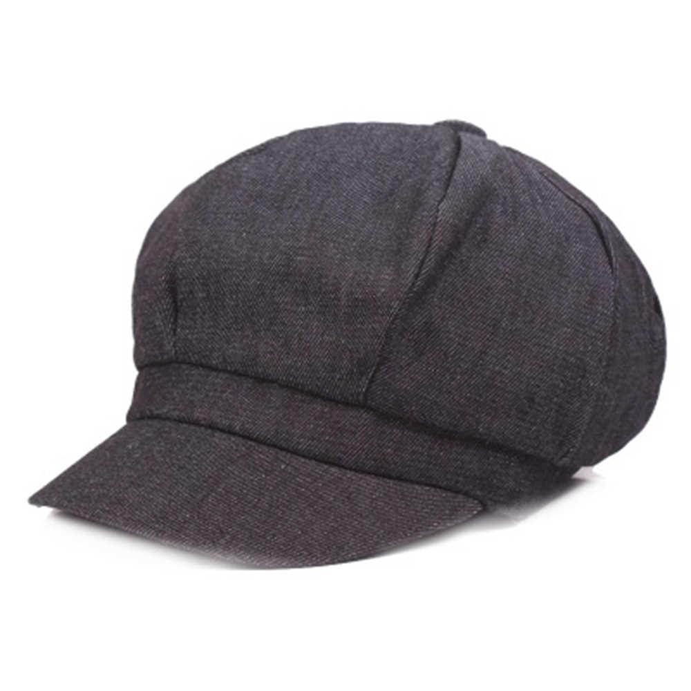 قبعات من Newsboy وصل حديثًا قبعات نسائية من الدنيم قبعات جاتسبي ذات غطاء مثمن بيكر بلغت ذروتها قبعة للقيادة قبعات واقية من الشمس للسيدات