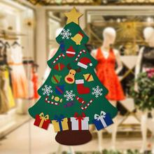Kids DIY Felt Christmas Tree with Ornaments Children Christmas Gifts for 2018 New Year Party Door Wall Hanging Xmas Decoration