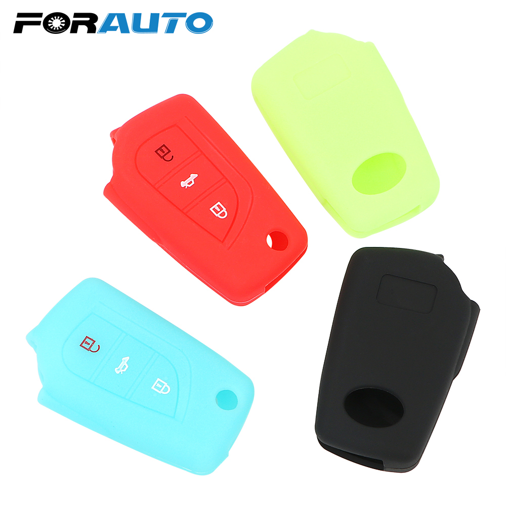 Silicone Cover Skin Jacket fit for TOYOTA Prius Crown Avenis Smart Key Case DB