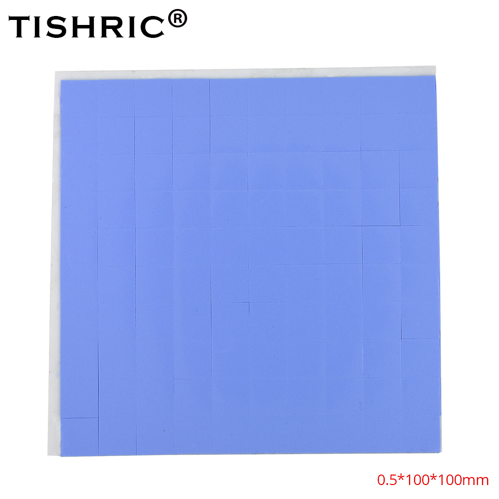 TISHRIC 2018 Thermal Pads 0.5mm GPU CPU Heatsink Cooling Conductive Silicone Pad For Fan PC Computer Heat Sink Cooler