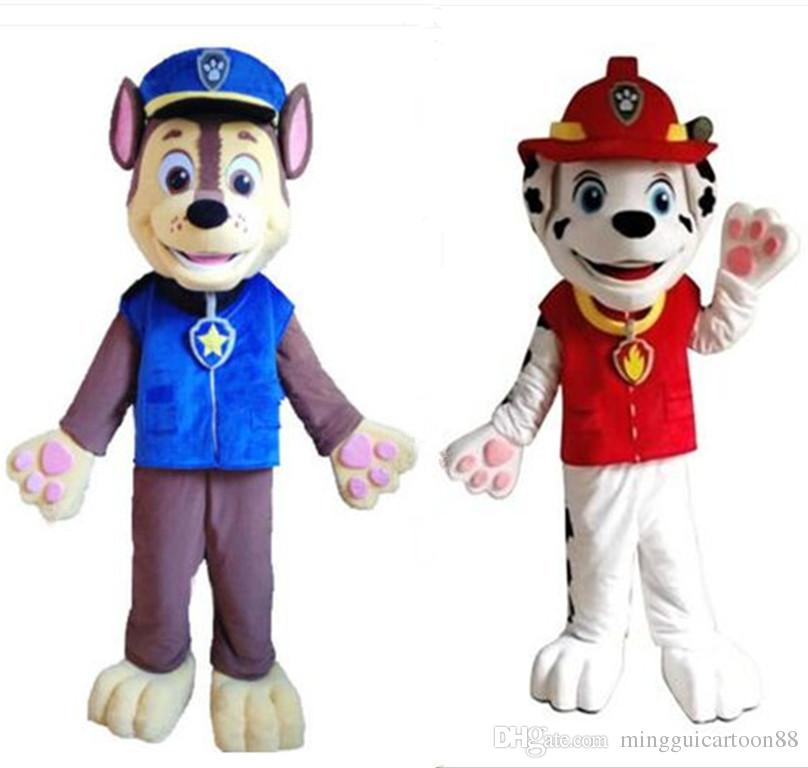 Adult Lovely Patrol Marchall Dog Mascot Costume Suit Cartoon Character Dog cartoon Costume fancy dreess Hall factory directly sa