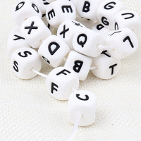 TYRY.HU 200pcs english letters silicone beads baby teether DIY accessories rodent mordedor bebe alphabet perle silicone beads
