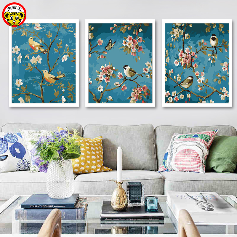 Painting By Numbers Art Paint By Number Annunciation Birds Landscape Birds And Flowers Two Birds Paintings By Numbers On Canvas
