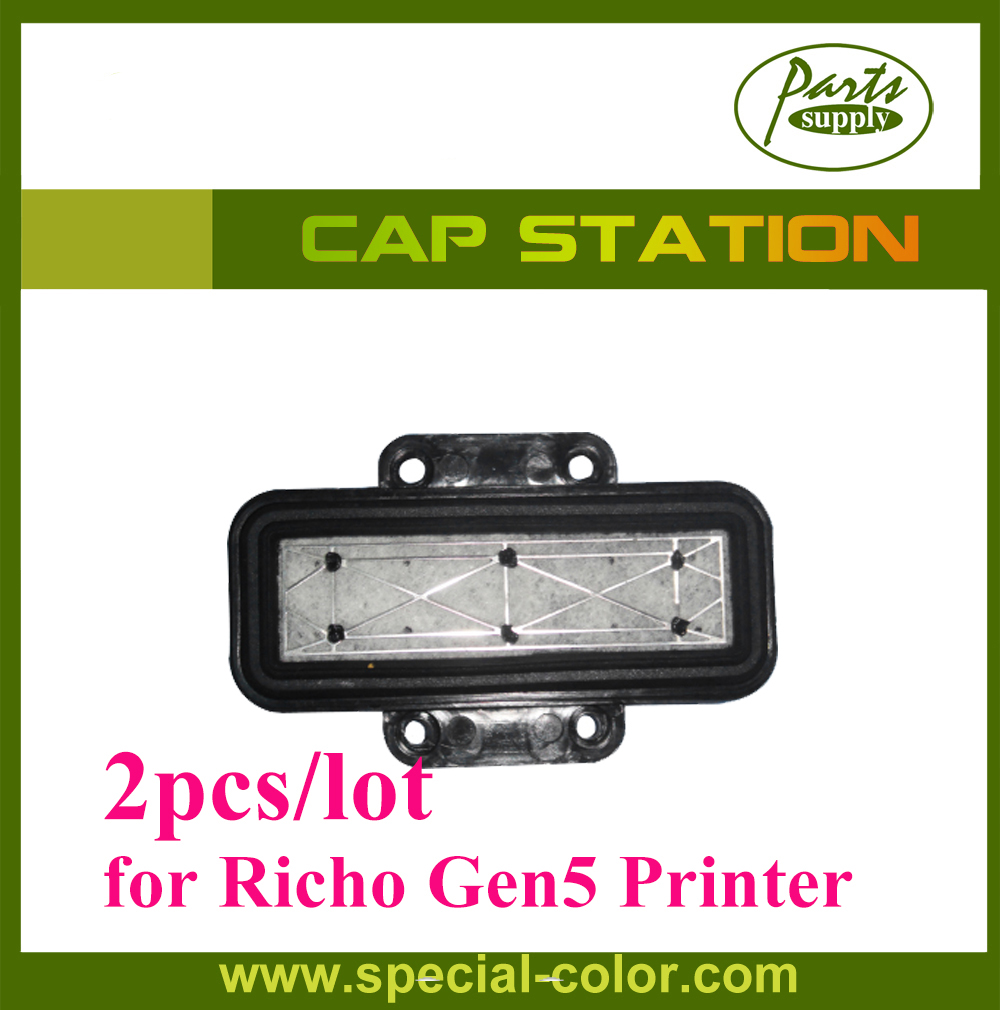 все цены на 2pcs Chinese Large Format Printer Cap Station Top for Richo Gen5 Printhead Printer Capping Station онлайн