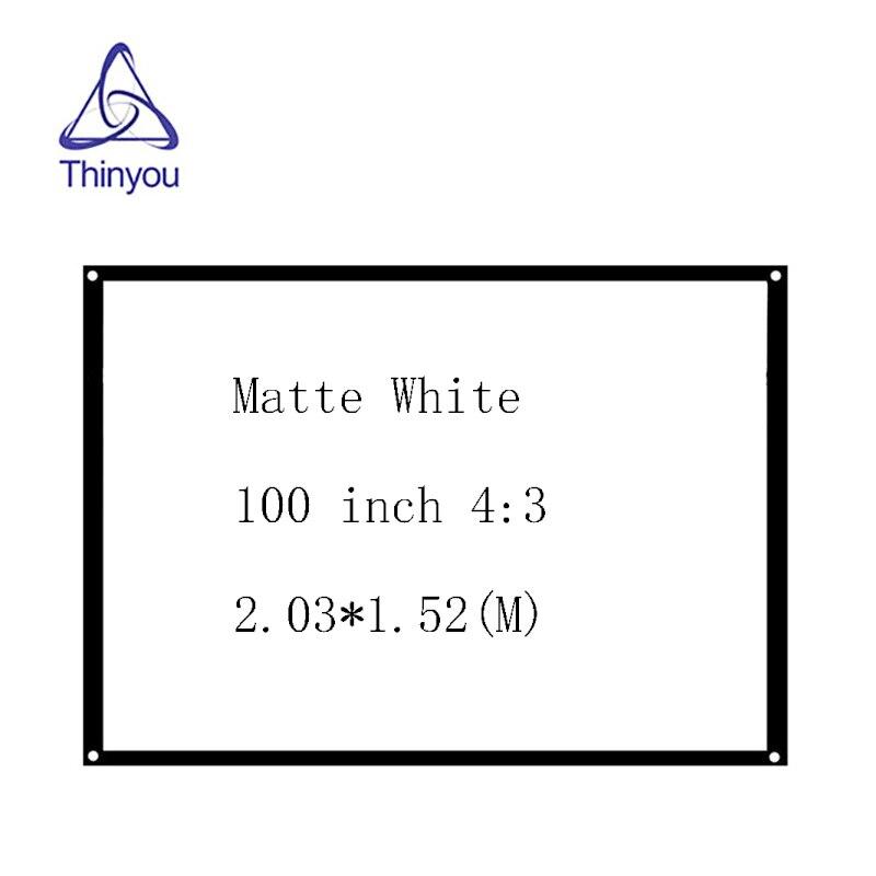 Thinyou neue aarive 100 Zoll 4: 3 Weiß vorhang Projektor Bildschirm - Heim-Audio und Video