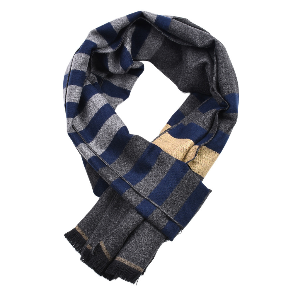 Shawl Scarf Bandana Blanket Tassel Autumn Male Winter Long Keep-Warm Men Three-Colors