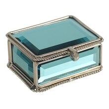 Высокий класс стекло ящики для хранения ювелирных изделий свадебные поле