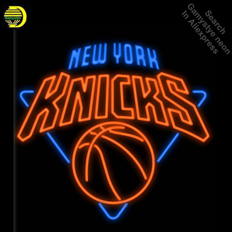 Neon Signs for Sports Club NYK Handcrafted New Knicks Neon Bulbs sign Glass Tube Decorate Wall Wholesale Sign dropshipping