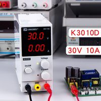 Mini Adjustable Digital DC power supply 30V 10A Laboratory Switching Power supply 110v/220v K3010D With Silicone Test Probe