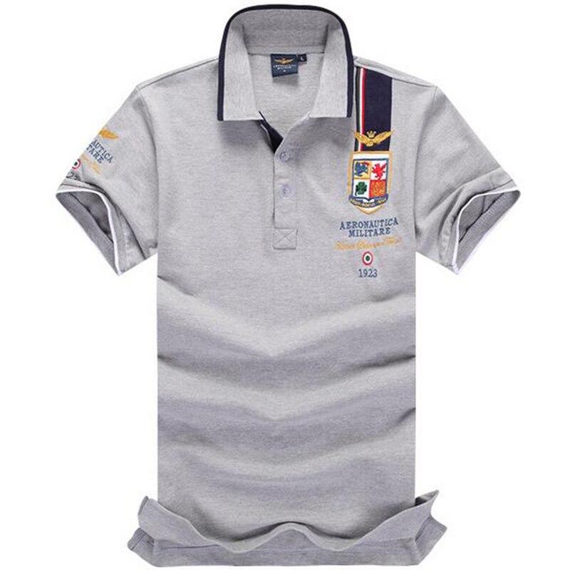 e8206d0524 2017 chegada new hot marca polo camisa dos homens aeronautica militare air  force one polo ralphly camisas masculinas de algodão camisas dos homens em  Polo ...