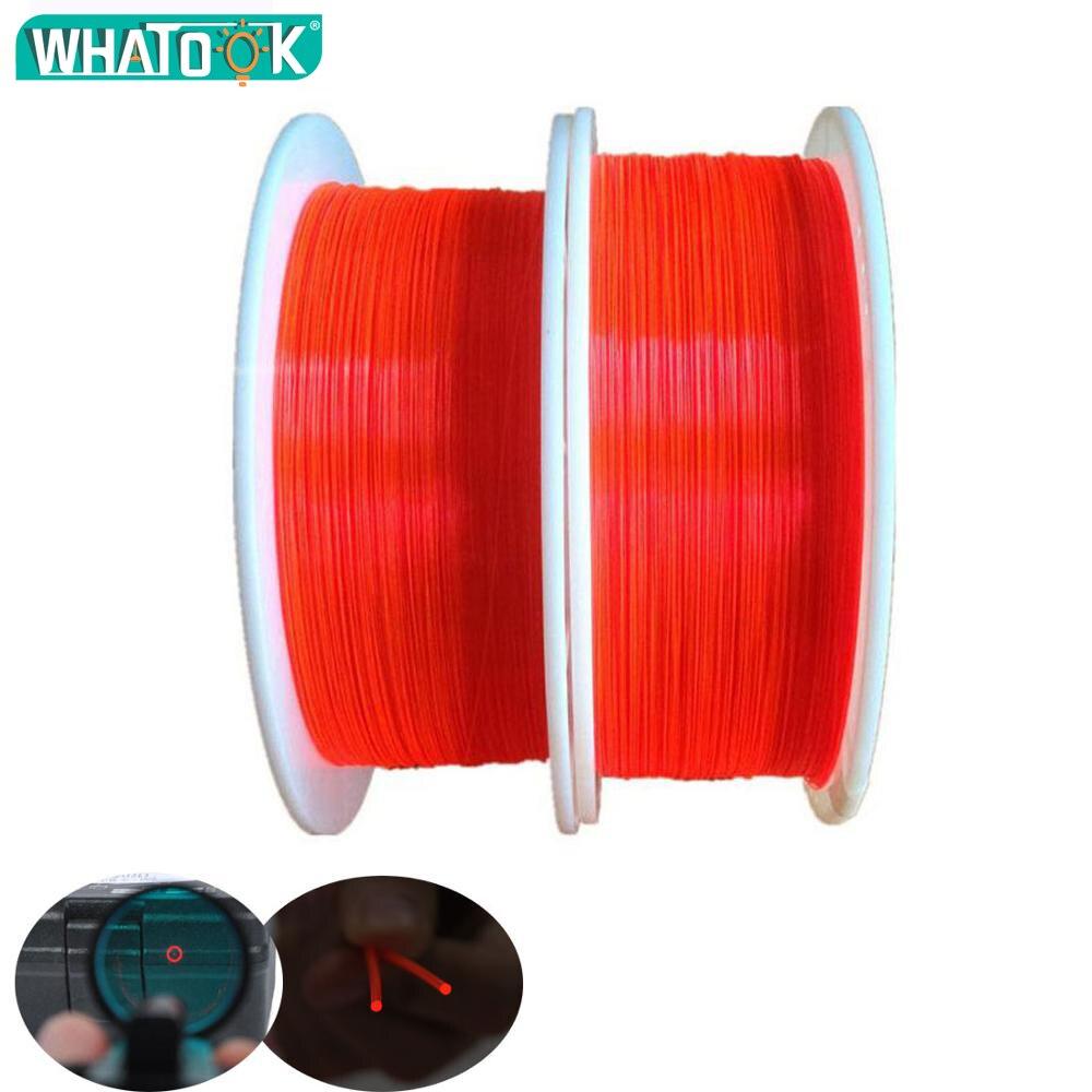 1M Optic Fiber Rod Hi-Capa Light Red Orange Green 0.5mm 0.75mm 1.0mm 1.5mm 2.0mm Fluorescent Optic Cable Neon Gun Shutting Light