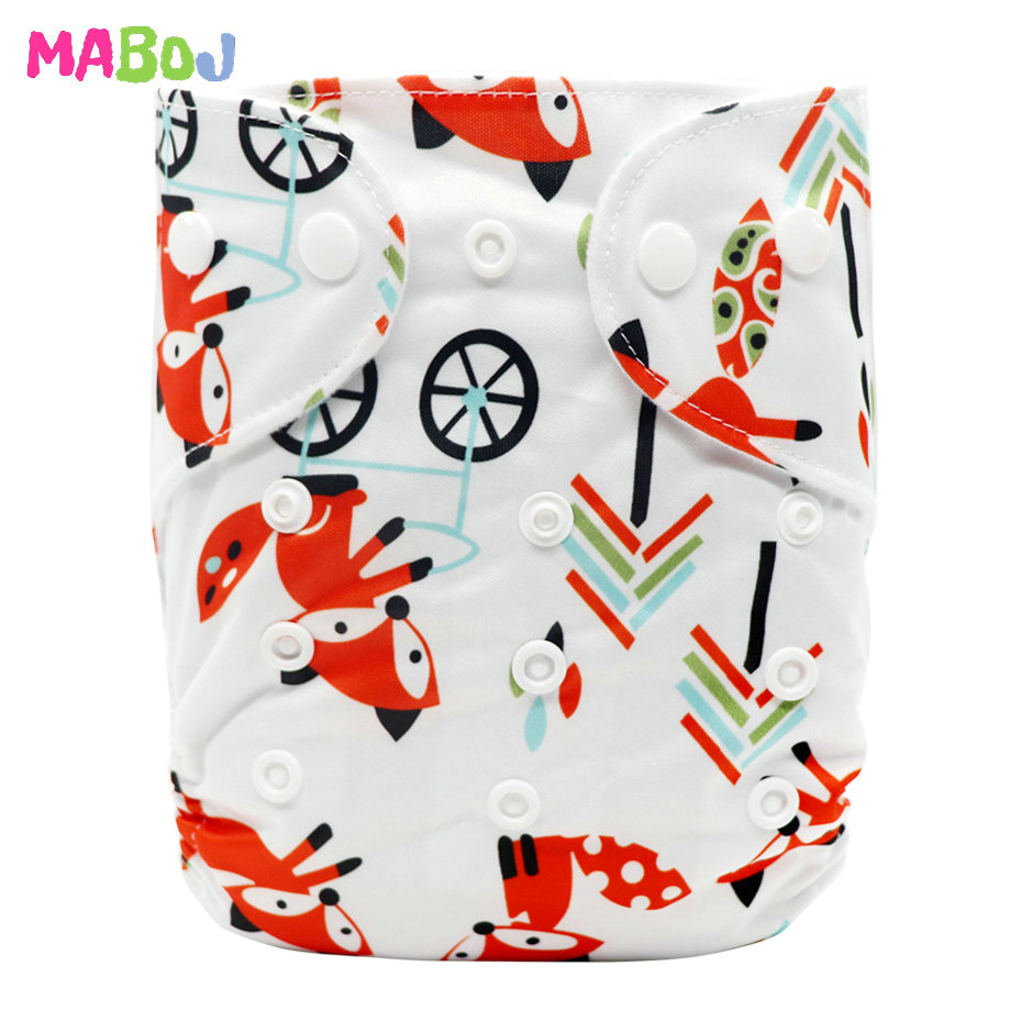 MABOJ Diaper Baby Pocket Diaper Washable Cloth Diapers Reusable Nappies Cover Newborn Waterproof Girl Boy Bebe Nappy Wholesale - Цвет: PD5-5-1