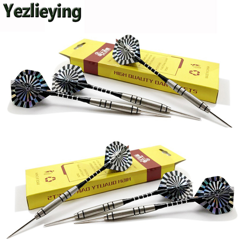 3pcs Professional 28g of steel tip darts w/ tungsten barrel Aluminum shaft pet flight for Sporting Game Free Shipping