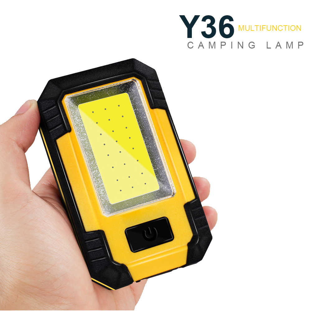 Portable COB LED Emergency Light 30W Super Terang Tahan Air Camping Tenda Lampu Isi Ulang Outdoor Bekerja Senter.