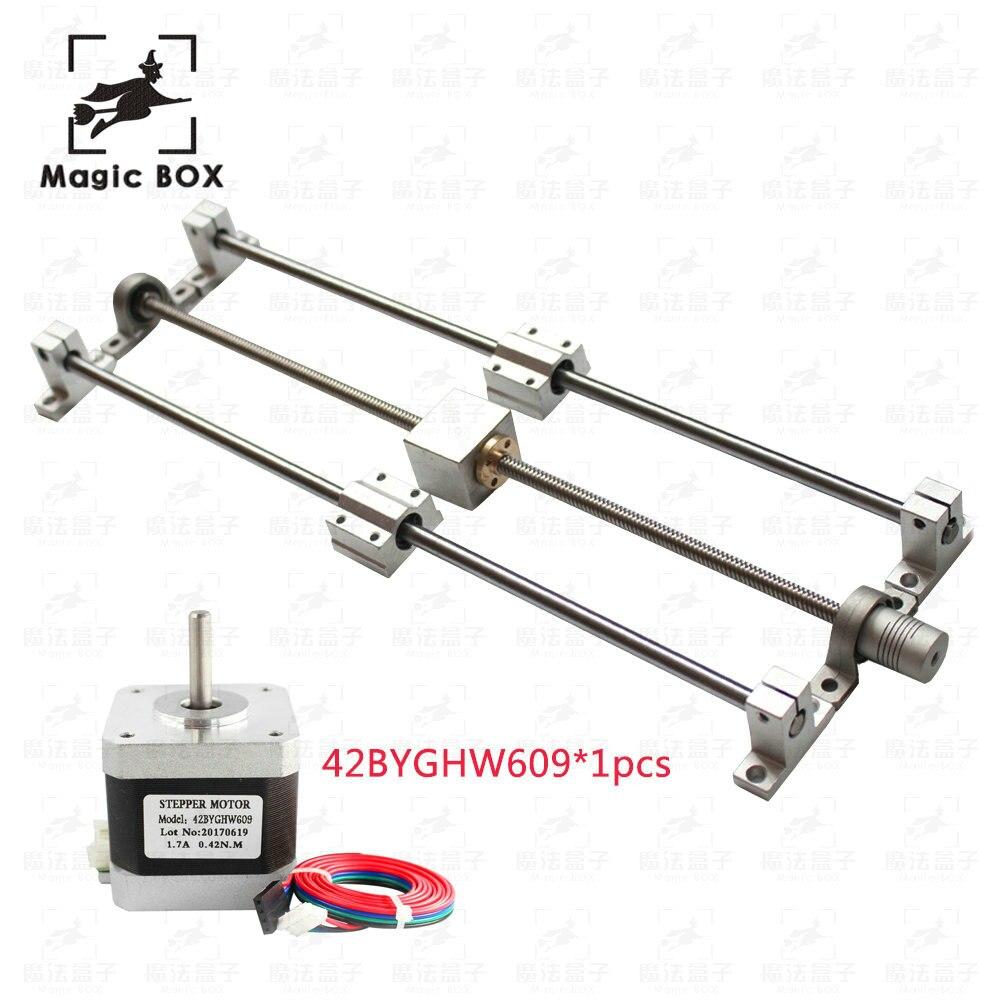guide rail sets T8 Lead screw length 330mm + linear shaft 8*330mm+KP08 SK8 SC8UU+ nut housing +coupling + step motor 42BYGHW609