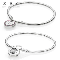 ZEG High Quality 100% Sliver Official Copy 1:1 Pan & Lock Your Promise Clasp Have Logo Women Fashion Jewerly Free Mail