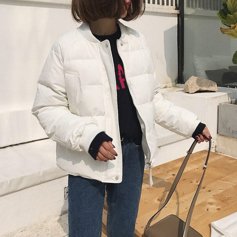 Wide Vita Inverno Donne Beige Solid Del 2018 Di Giacca Bicchierino Giubbotti Imbottito Spessore bianco Donna Parka blu Caldo Cappotti Cotone E a Casual X0vazwqa