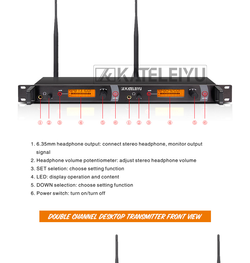EM2050 Wireless in ear Monitor System 10 ear monitoring systems wireless stage monitor system EM2050 IEM bodypack monitor