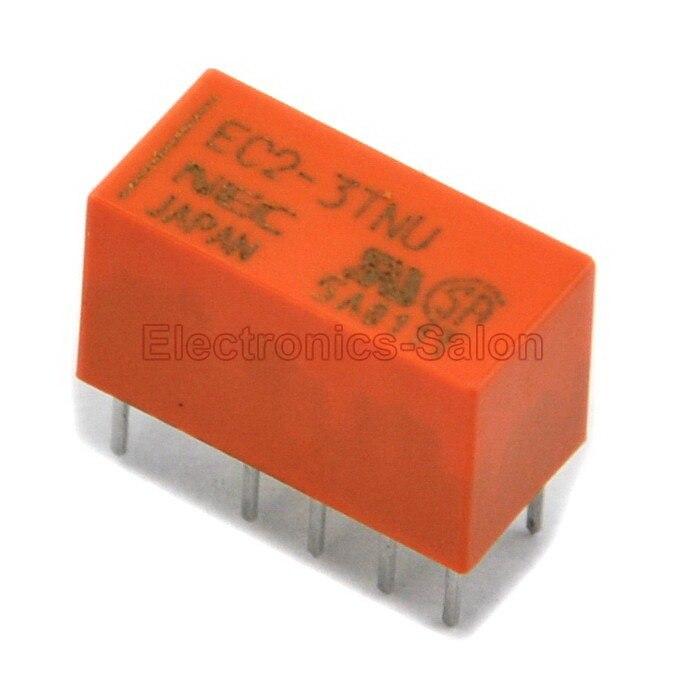 ( 2 Pcs/lot ) EC2-3TNU Double Coil Latch Signal Relay,DC 3V,Slim Type,DPDT/2 Form C