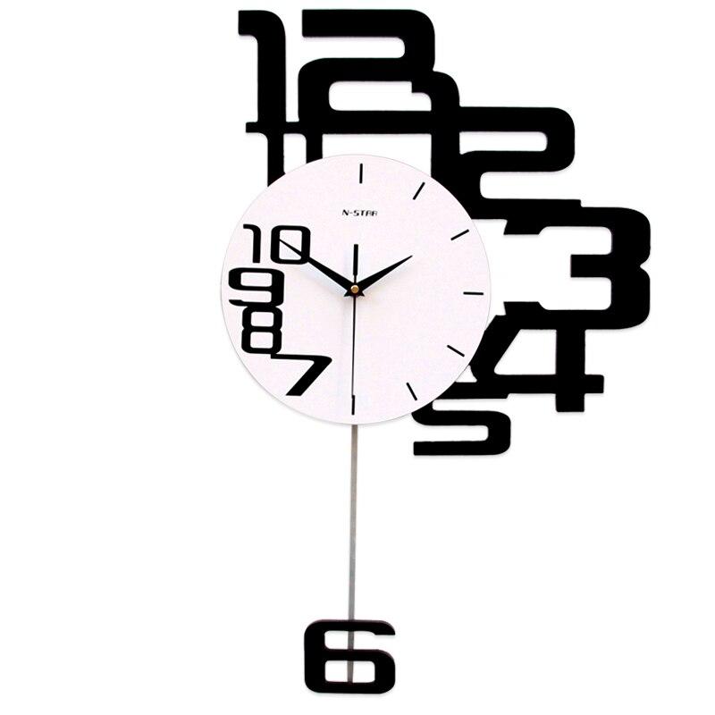 Atmosphère créative muet décoration murale mode art horloge excellent beau gracieux élégant exquis fine belle