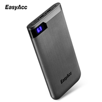 Easyacc 5V/2.1A 2 Ports 10000mah Powerbank Ultra Thin Portable External Battery Charger for Smart Phones Power Bank Slim Charger