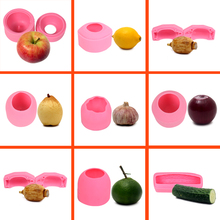 YQYM vegetable fruits mousse cake corn cabbage pear peach mould silicone soap mold