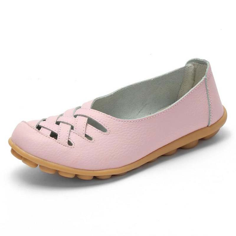 size 34 44 girls leather single shoes women shoes breathable summer shoes casual adult high