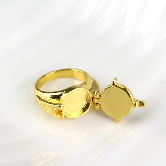 Superhero The Flash Ring Anime Movie Comics Jewelry Replica The Flash Rings For Men Gold Color Rings Action Toy 295 image