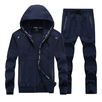 Men's tracksuits male sportswear hoodies set spring autumn casual suits sweatshirts+pants high quality plus size l-9xl