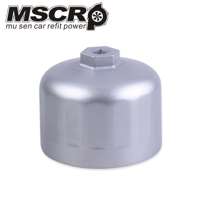 Oil Filter Wrench Engine Tool for BMW Volvo Cartridge Style Filter Housing Caps Non slip Internal Diameter 86mm 16 Fluters