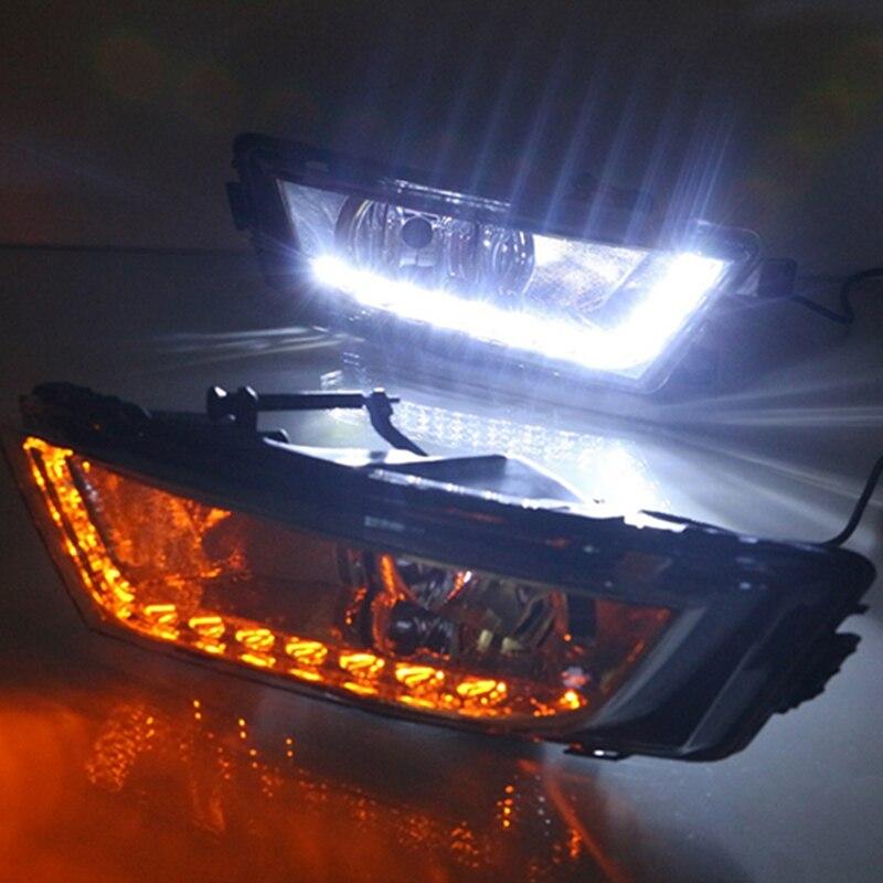 Car Flashing Car Led Daylight For Skoda Octavia A7 MK3 2014 2015 2016 LED DRL Daytime