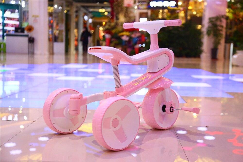 Nouveau Réversible Enfants de Tricycle Vélo 2-6 Ans Grand Scooter Enfants de Vélo Pliant Une Voiture Double -utiliser Tour Jouet De Voiture - 2