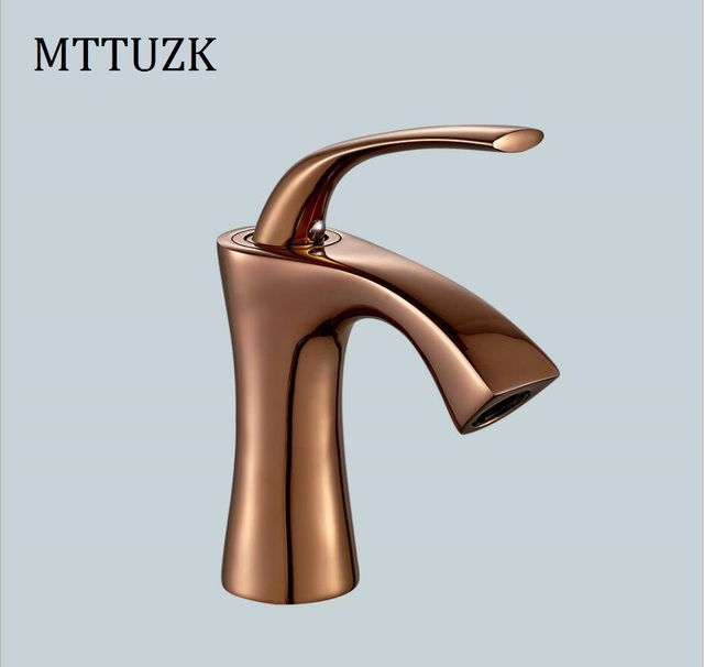Mttuzk Free Shipping Gold Faucet Oil Rubbed Bronze Bathroom Faucets Basin Sink